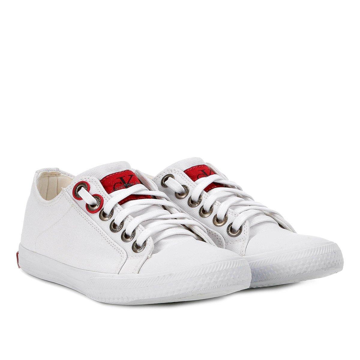 1426d751a68c8 Tênis Calvin Klein Lona Masculino - Branco - Compre Agora
