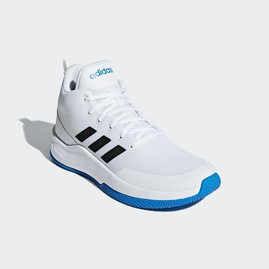 Tênis Cano Alto Adidas Speed End2End Masculino - Branco+Azul