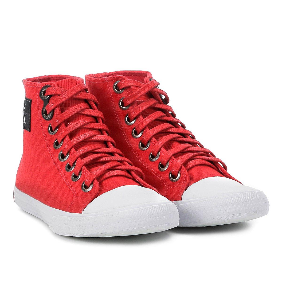 Tênis Cano Alto Calvin Klein Lona Feminino - Compre Agora   Netshoes 7a6753b9ce