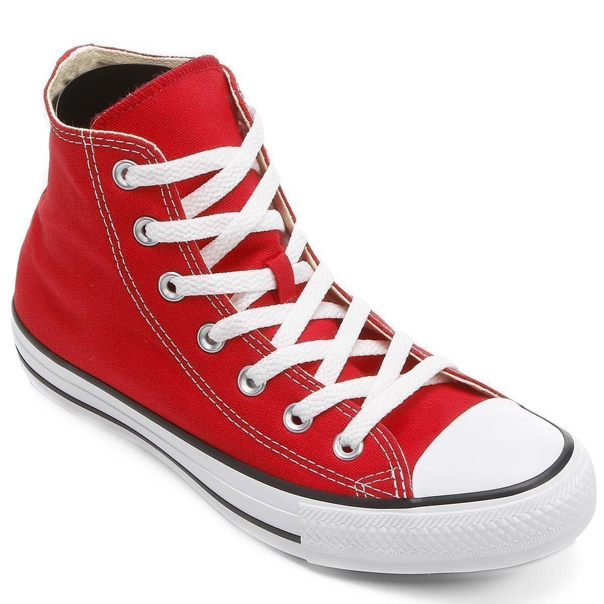 Tênis Cano Alto Converse Chuck Taylor All Star HI - Vermelho e Branco -  Compre Agora  21c2576747d