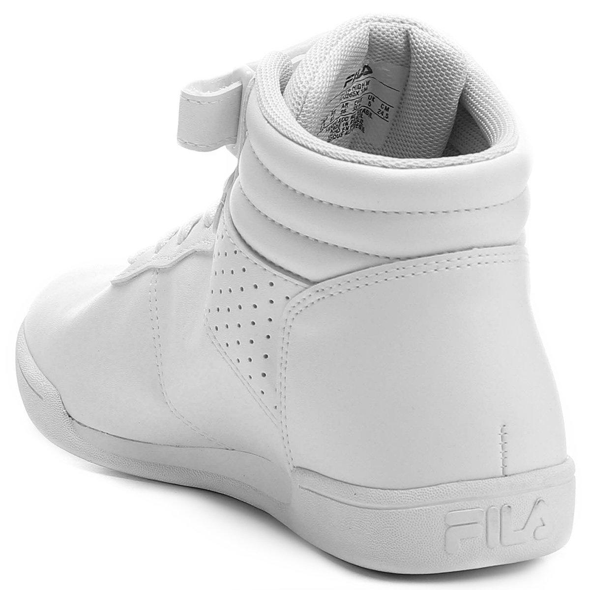 Tênis Cano Alto Fila F-16 High Feminino - Branco - Compre Agora ... 61a4e4a58a641