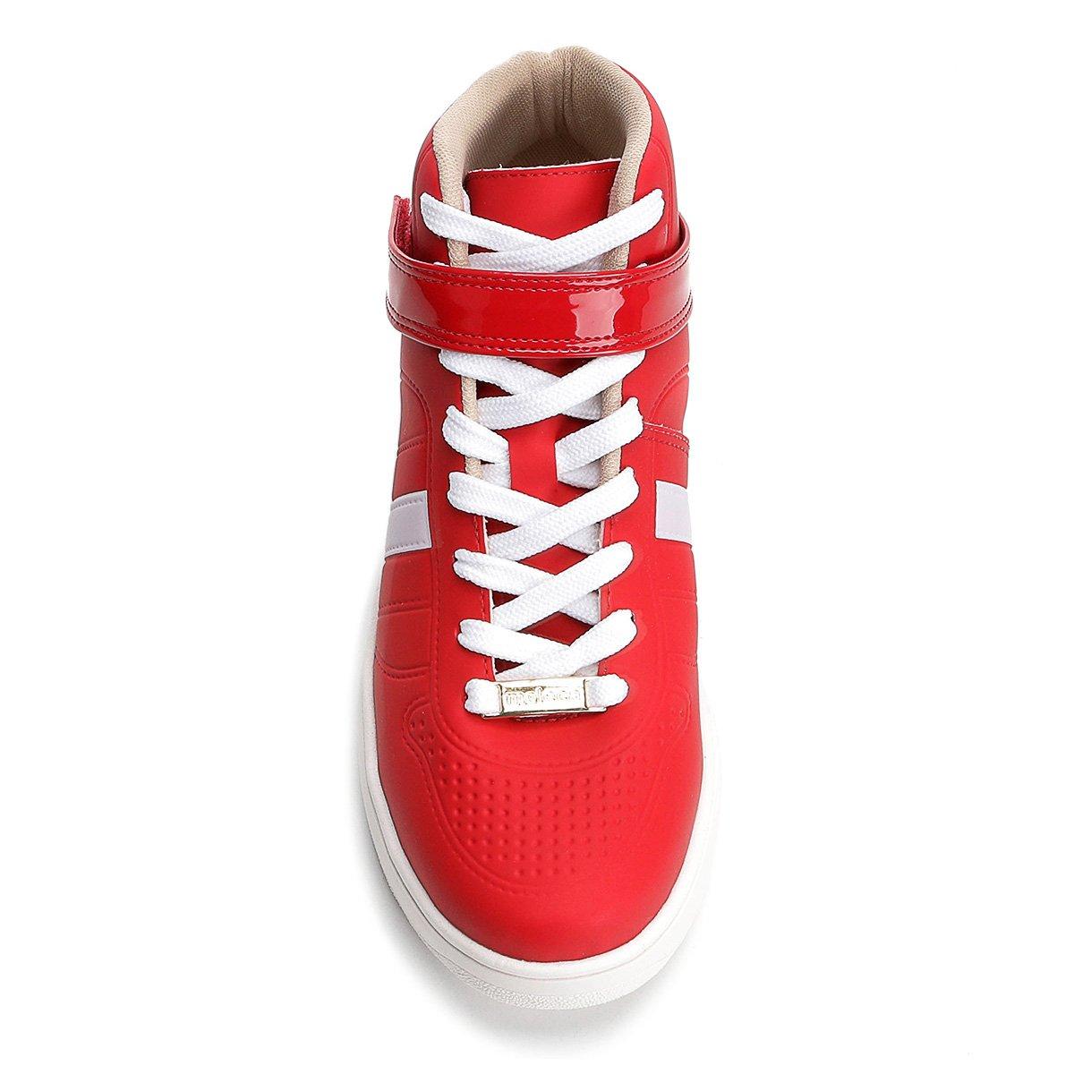 a3095e3dcf Tênis Cano Alto Moleca Velcro Feminino - Vermelho - Compre Agora ...