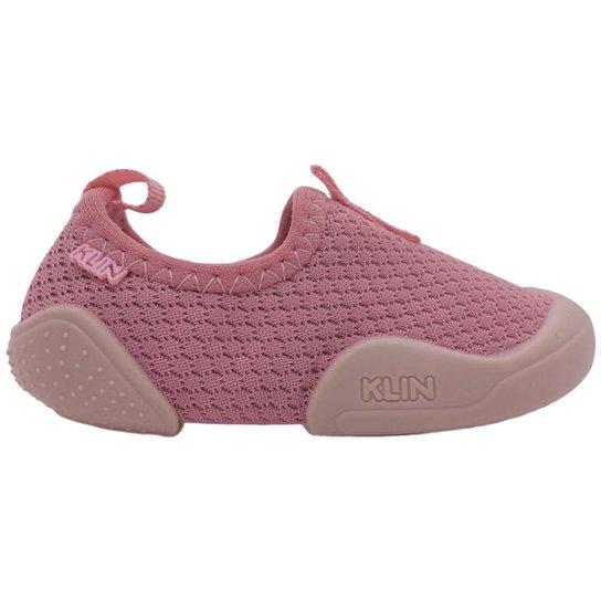 Tênis Casual Bebês Meninas Klin New Confort Confortável Com Elástico Palmilha Macia 179 054 - Rosê
