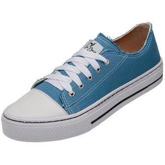 Tênis Casual Feminino Cano Baixo Cadarço Estilo Urbano Conforto Mr Try Shoes