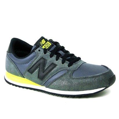 Tênis Casual New Balance 420 - Chumbo/Verde WL420NPC