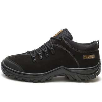 Tenis Caterpillar Adventure Couro Preto