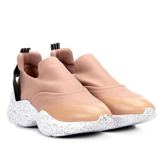 Tênis Chunky Sneaker Capodarte Sem Cadarço Feminino - Nude
