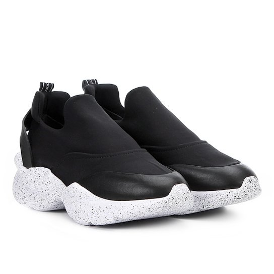 Tênis Chunky Sneaker Capodarte Sem Cadarço Feminino - Preto