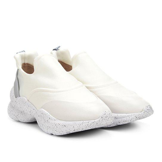 Tênis Chunky Sneaker Capodarte Sem Cadarço Feminino - Off White