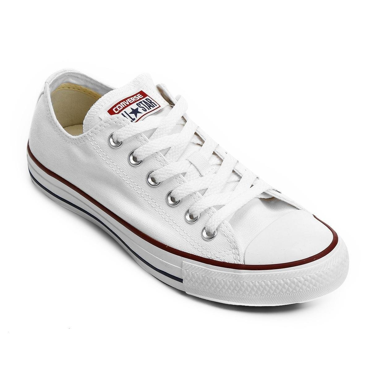 Tênis Converse All Star Ct As Core Ox - Off White e Vermelho ... 9a25c7cbd4ab1