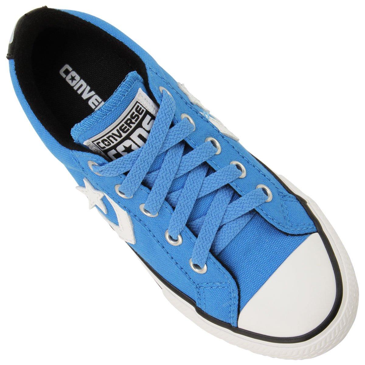 4a42ea1f69e ... Tênis Converse ALL STAR Player EV Infantil - Azul Claro+Branco.  COLLECTION  LANÇAMENTO
