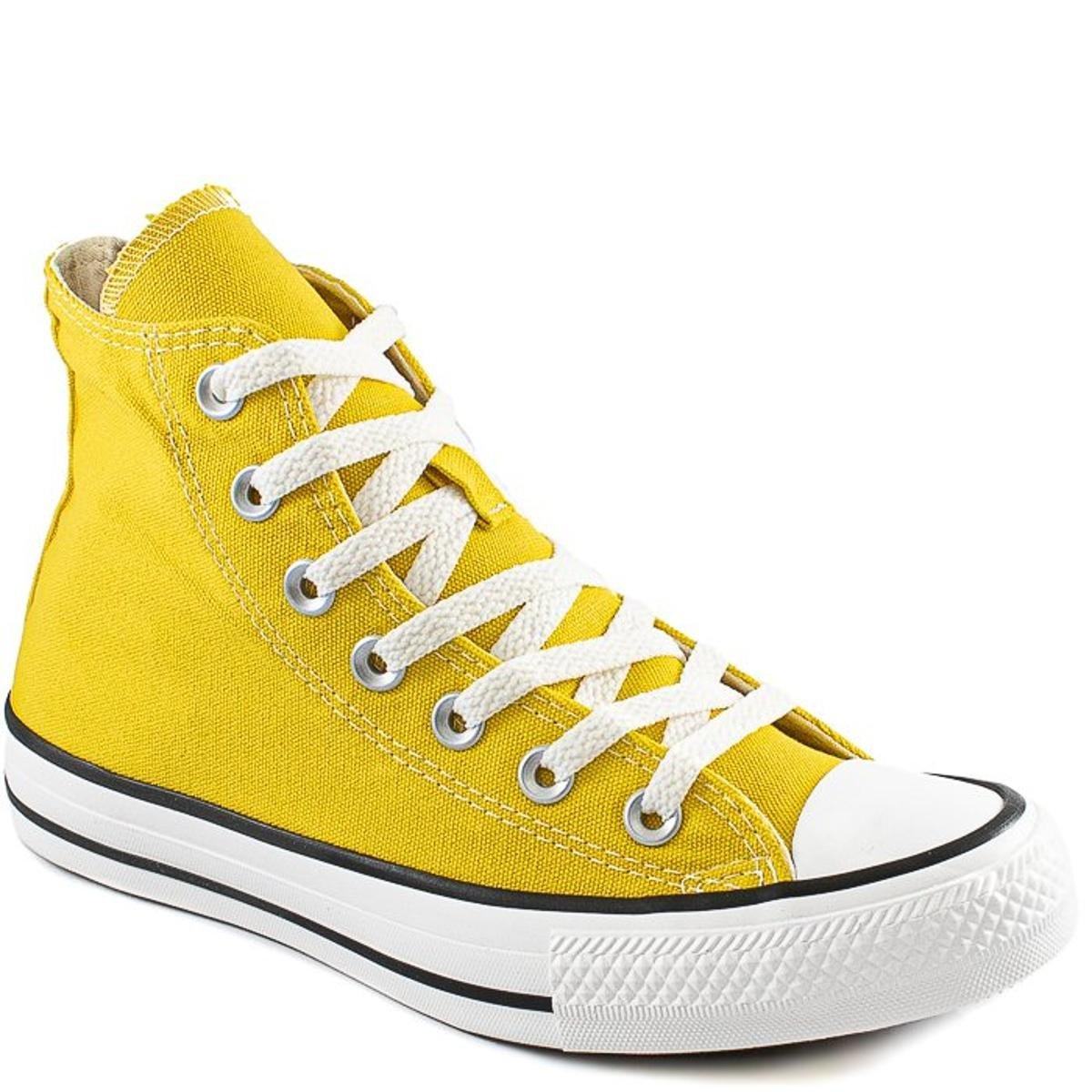 Tênis Converse Chuck Taylor All Star Cano Alto Feminino Amarelo