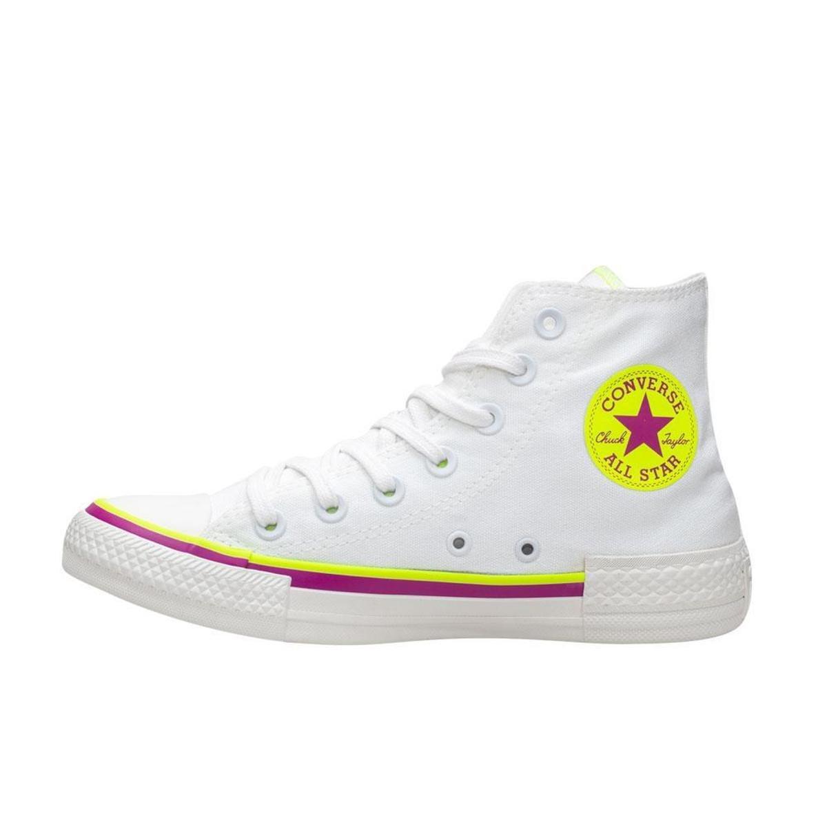 Tênis Converse Chuck Taylor All Star Cano Alto - Branco
