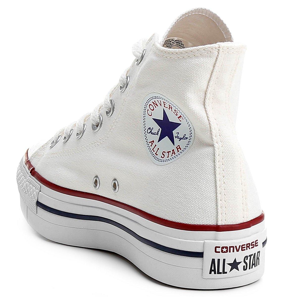 Tênis Converse Chuck Taylor All Star Platform Hi - Branco - Compre ... 4210caae456fa
