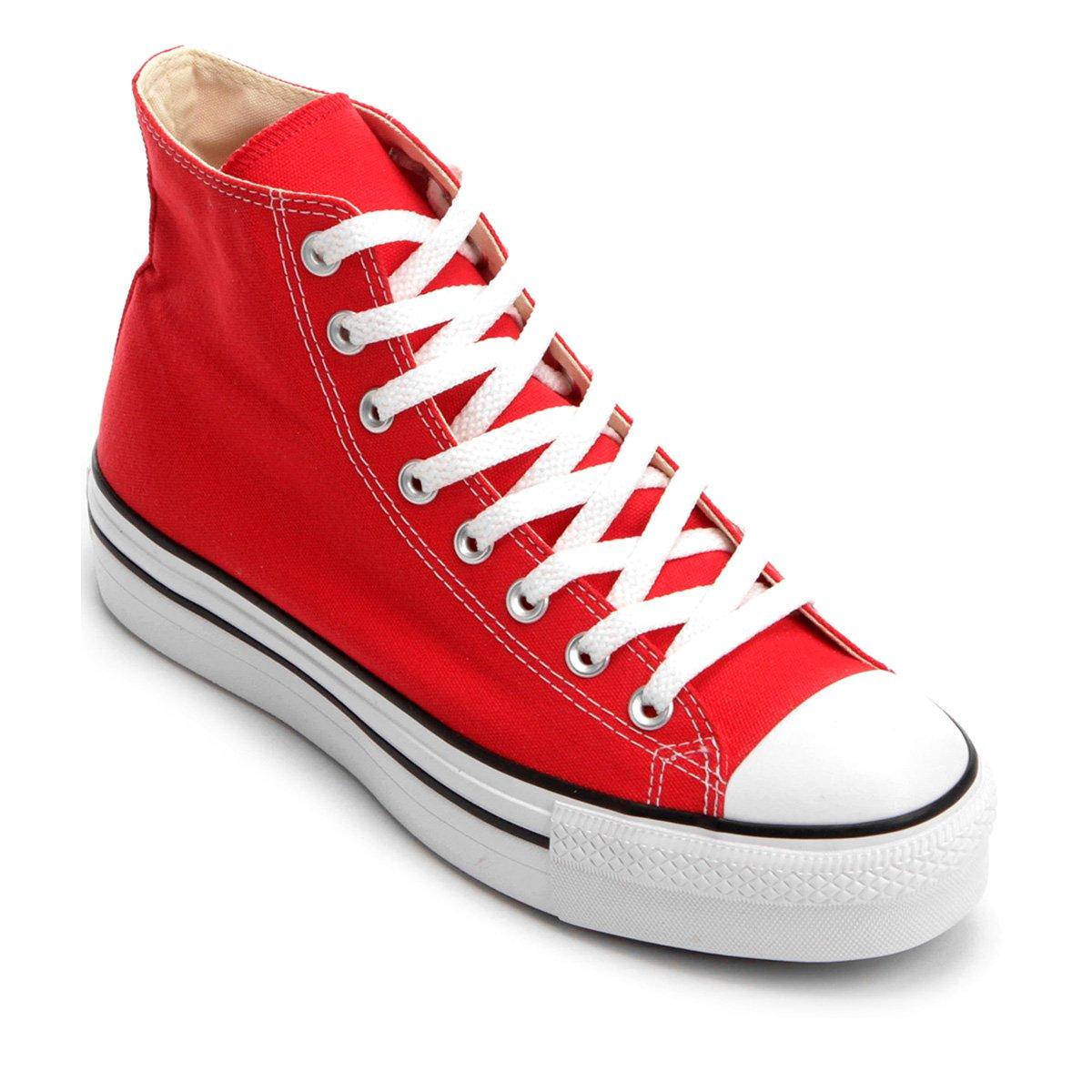 converse flatform vermelho