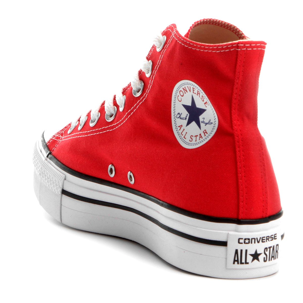 Tênis Converse Chuck Taylor All Star Platform Hi - Vermelho - Compre ... 840b2cc8d7ad4