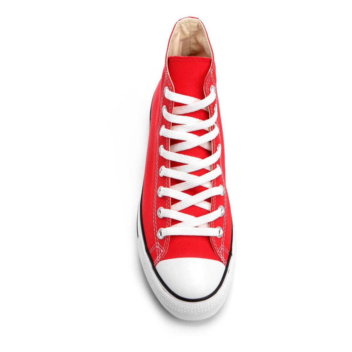 1698f7a575 Tênis Converse Chuck Taylor All Star Platform Hi - Vermelho - Compre ...