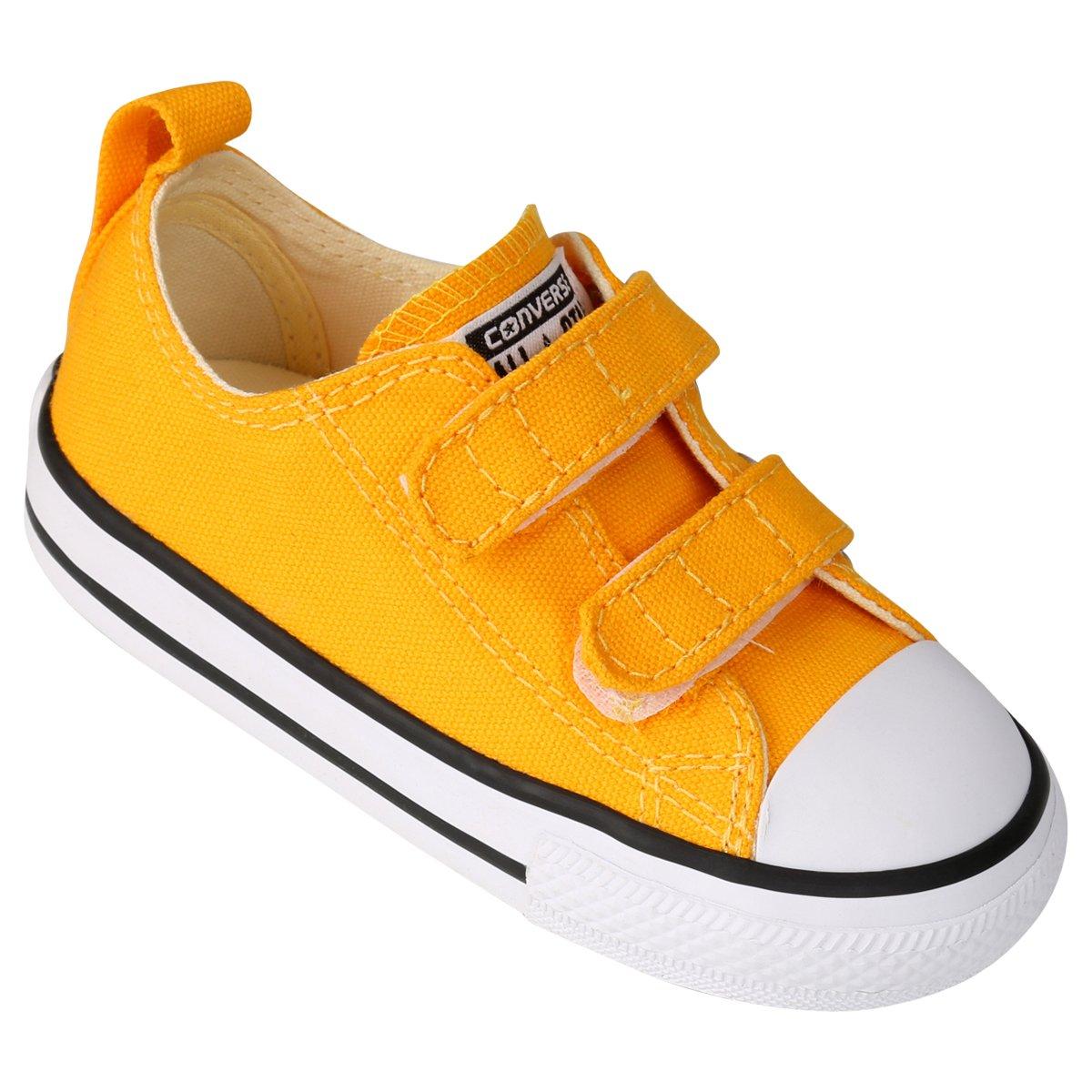 converse infantil amarelo