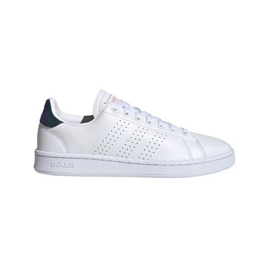 Tênis Couro Adidas Advantage II Feminino - Branco