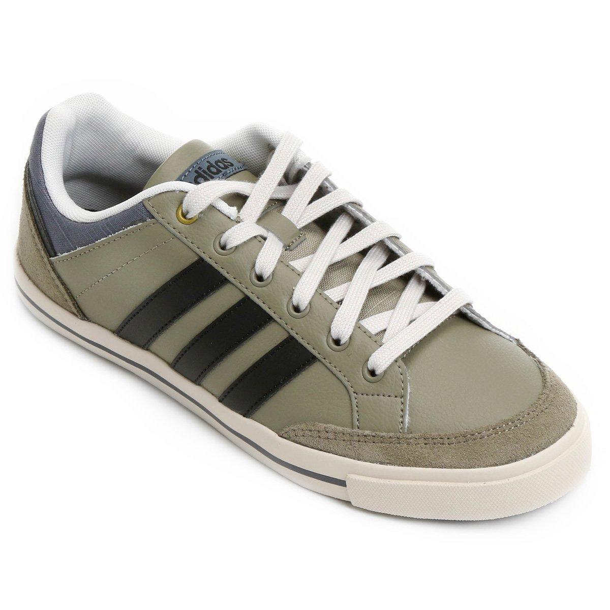 bas prix 33431 9ee05 Tênis Couro Adidas Cacity Masculino - Musgo e Preto