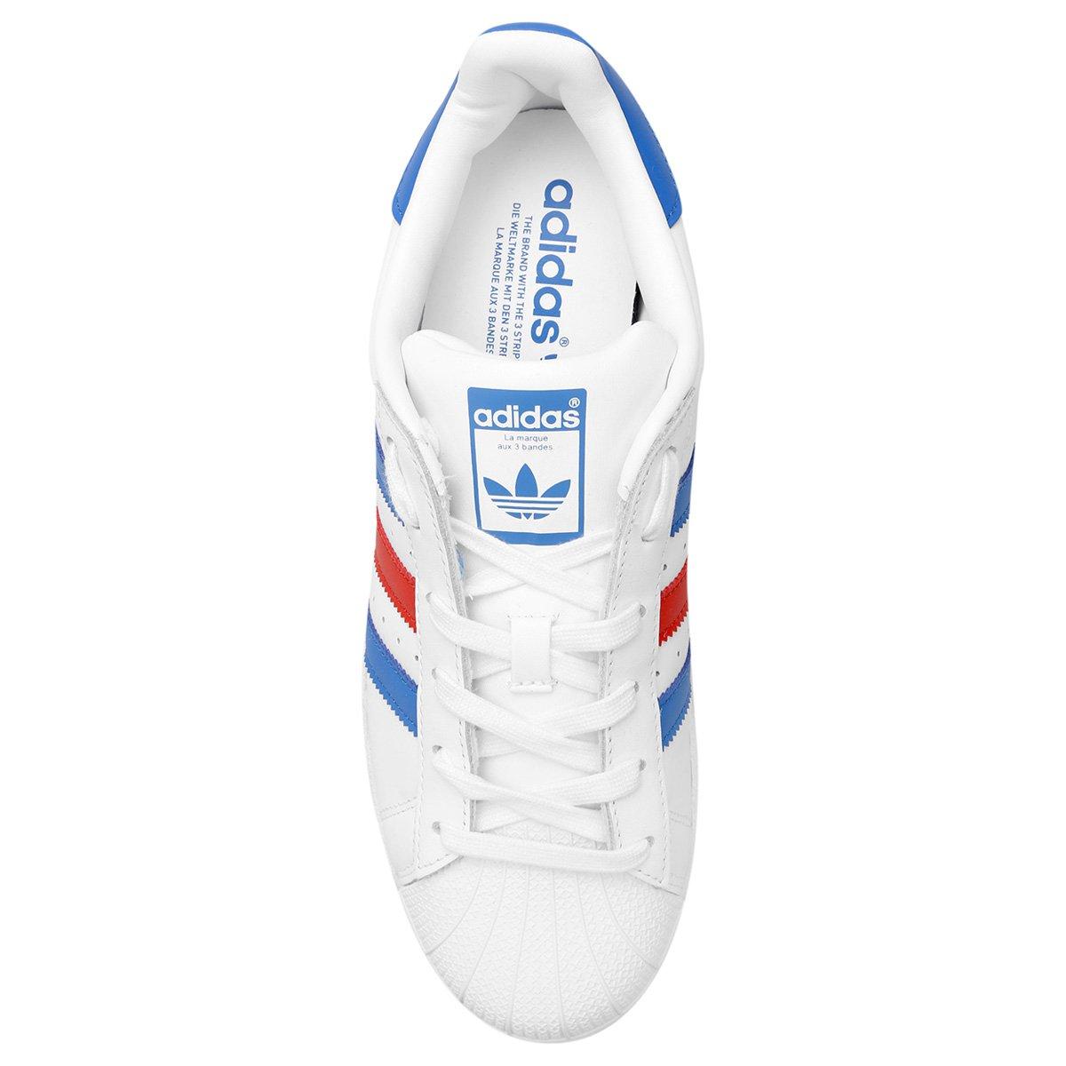 Tênis Couro Adidas Superstar Foundation - Compre Agora  9b3270430df4d