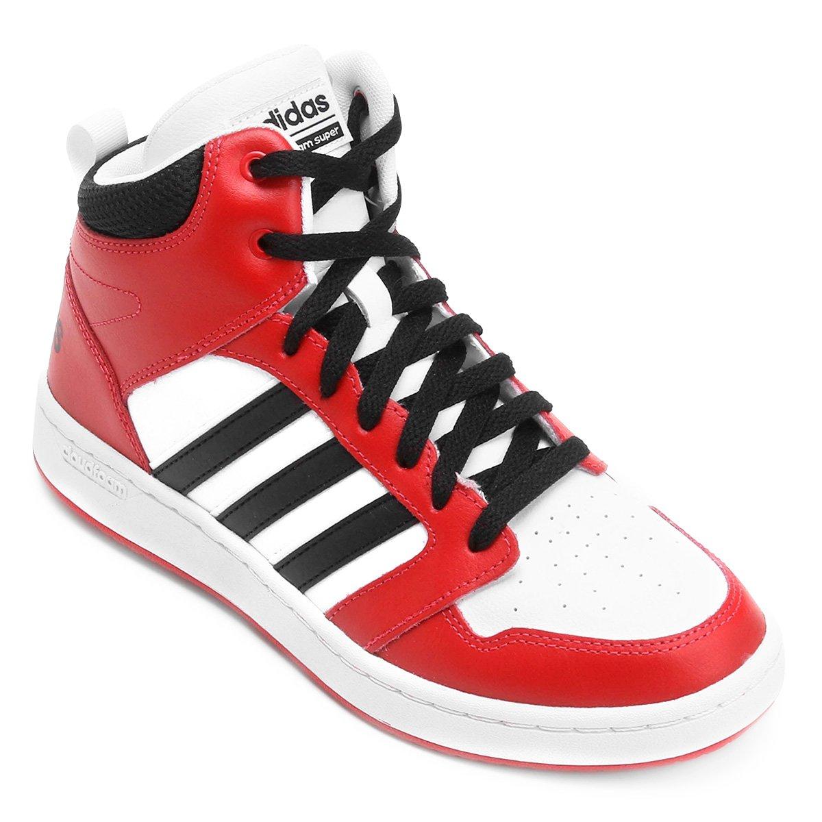 Tênis Couro Cano Alto Adidas Cf Super Hoops Mid Masculino - Compre ... f66c7db66b89c
