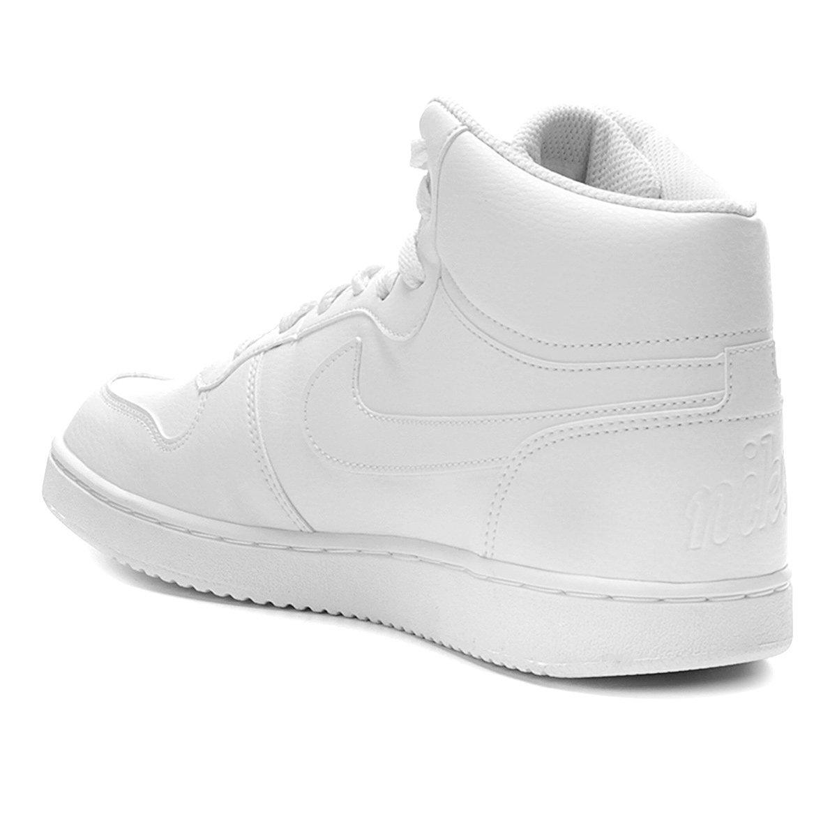 Tênis Couro Cano Alto Nike Ebernon Mid Masculino - Branco - Compre ... b76bdbc8d3834