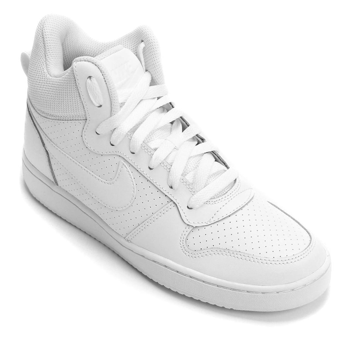 Tênis Couro Cano Alto Nike Recreation Mid Feminino Branco