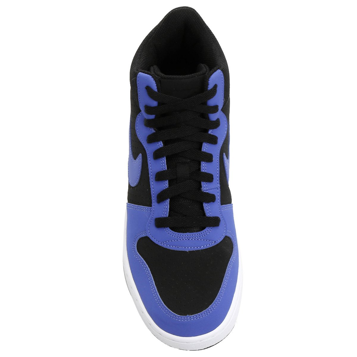 Nike Alto Masculino Cano Azul Preto e Mid Recreation Couro Tênis EH1Oqwtt