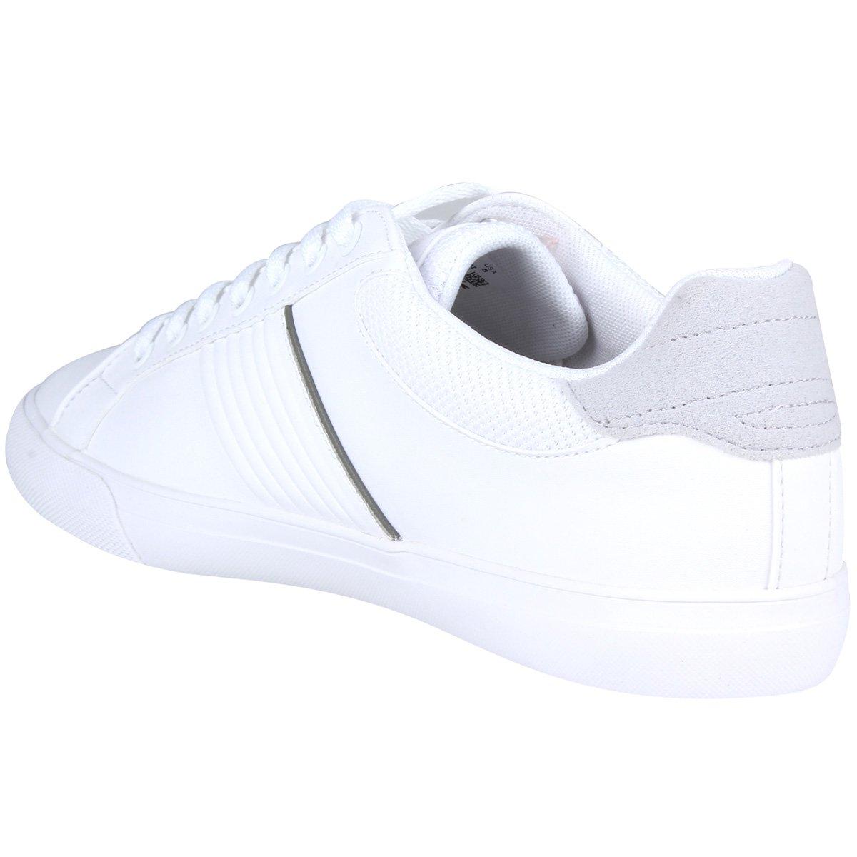 Tênis Couro Lacoste Flead Masculino - Branco - Compre Agora   Netshoes 12929312f5