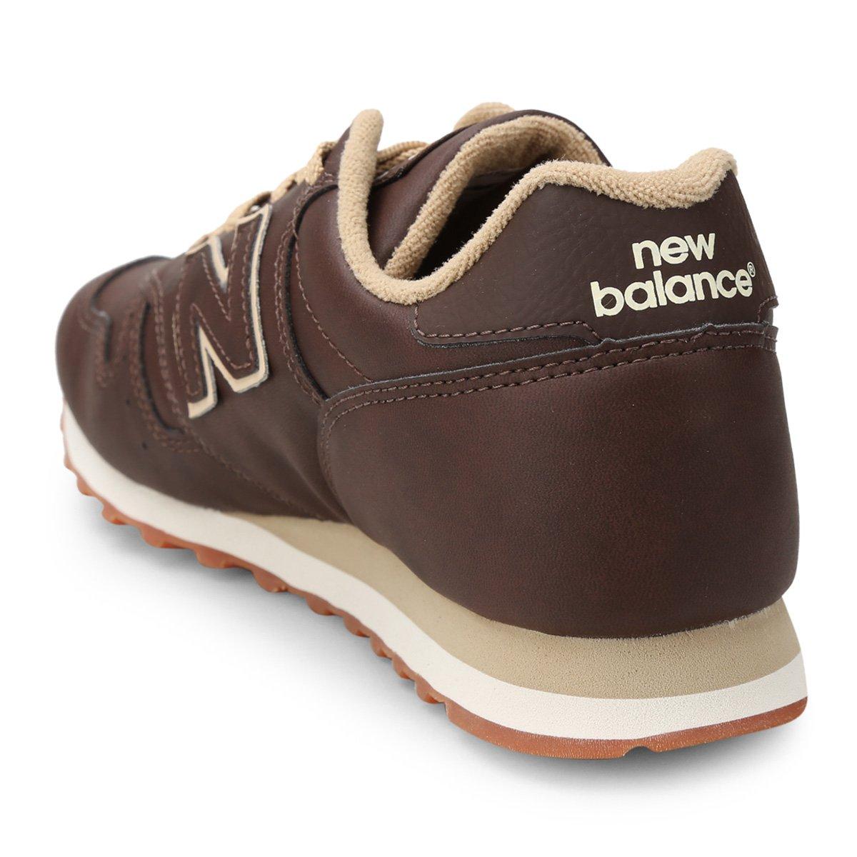 new balance 373 marrom escuro
