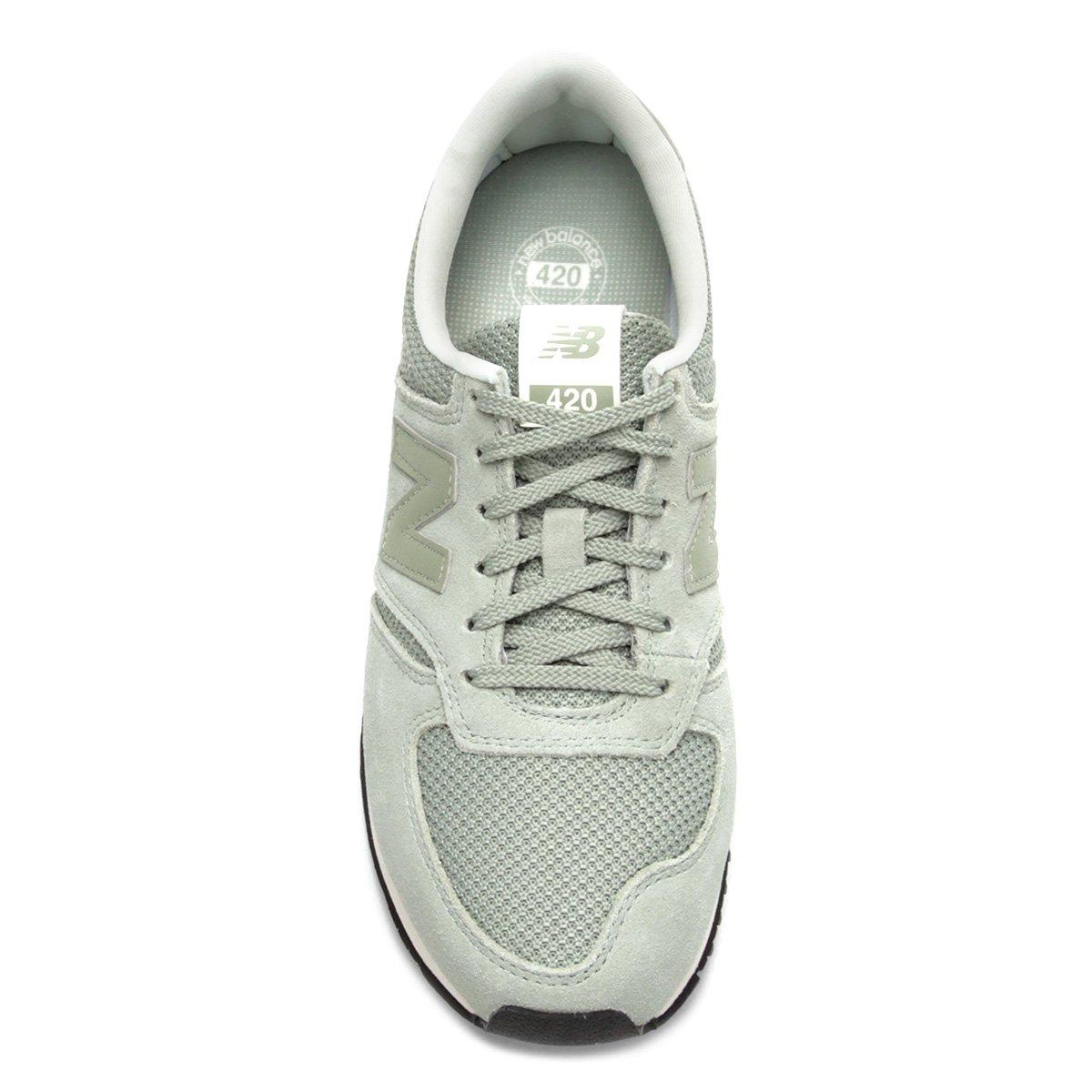 Couro Tênis Verde Tênis Feminino Branco Balance New 420 Couro e 5EZxwqHfx