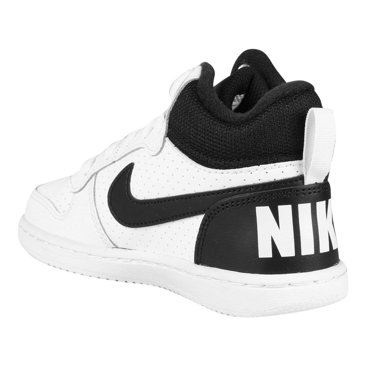 653483484b Tênis Couro Nike Court Borough Mid - Branco - Compre Agora