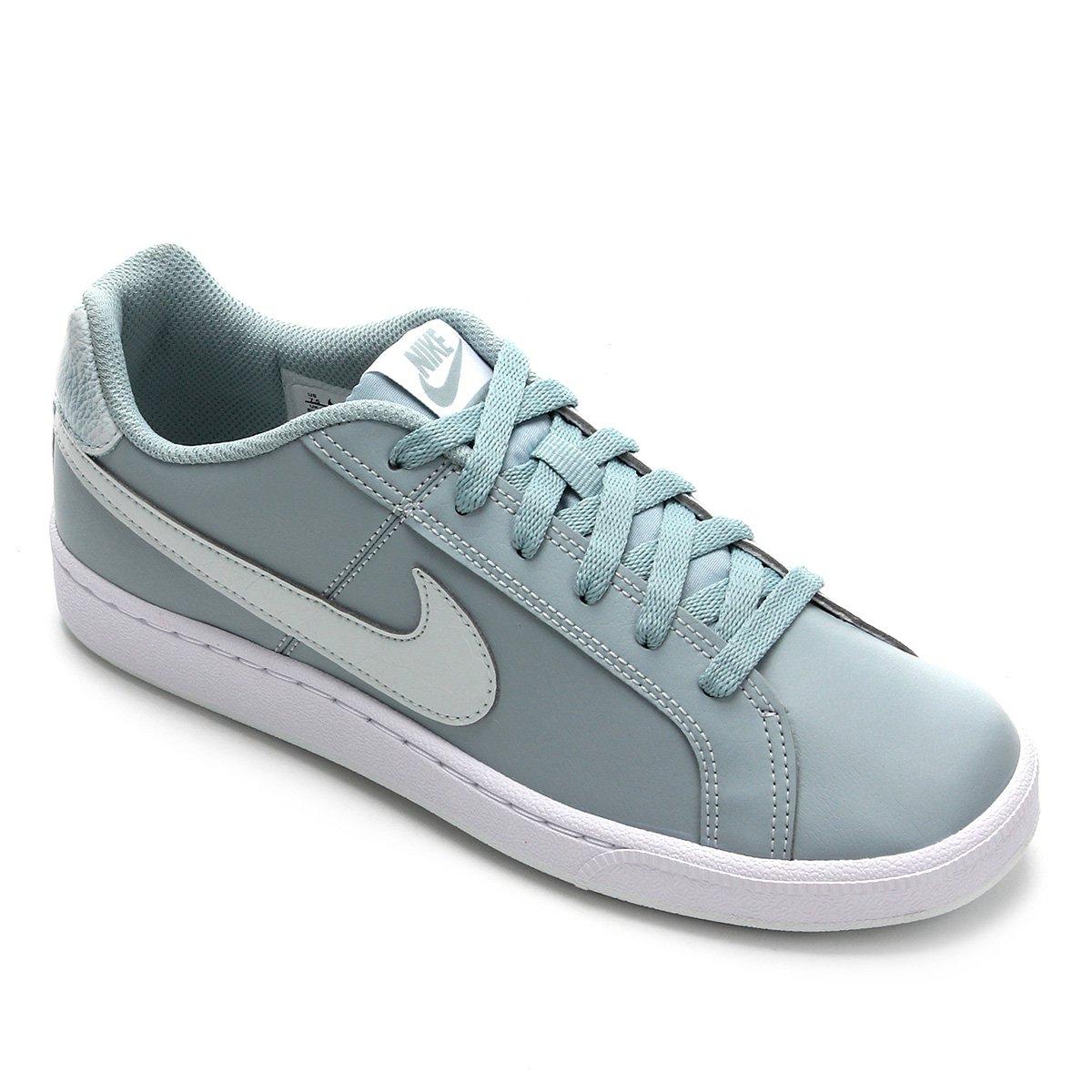 Tênis Couro Nike Court Royale Feminino Azul E Branco