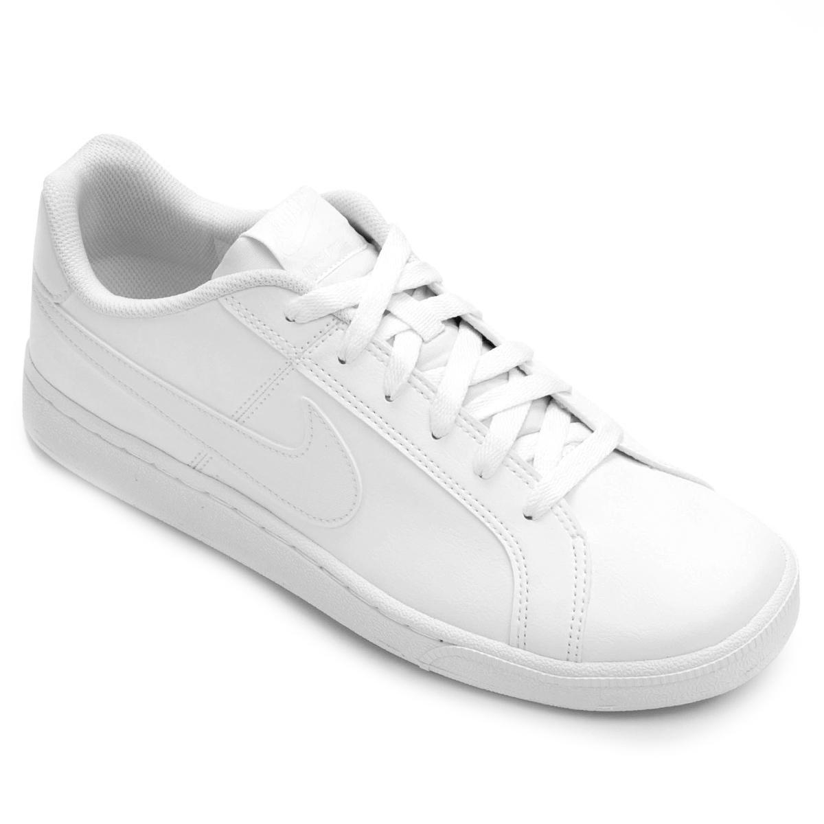 Tênis Tênis Court Couro Nike Royale Royale Nike Masculino Couro Branco Court wqI1Oq