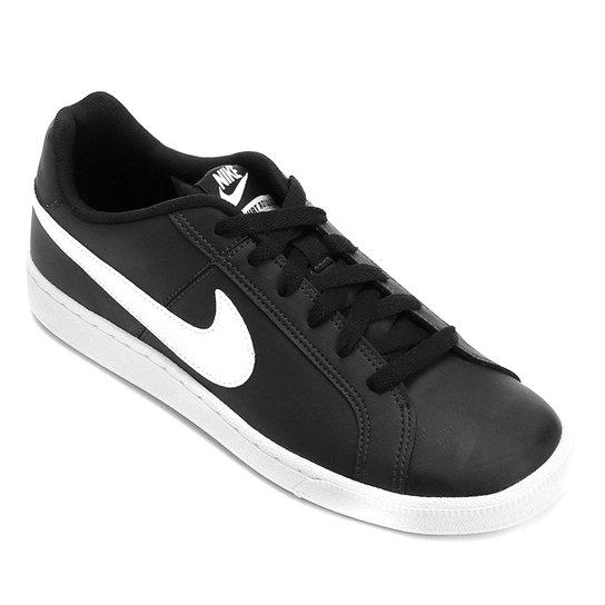 Tênis Couro Nike Court Royale Masculino - Preto+Branco