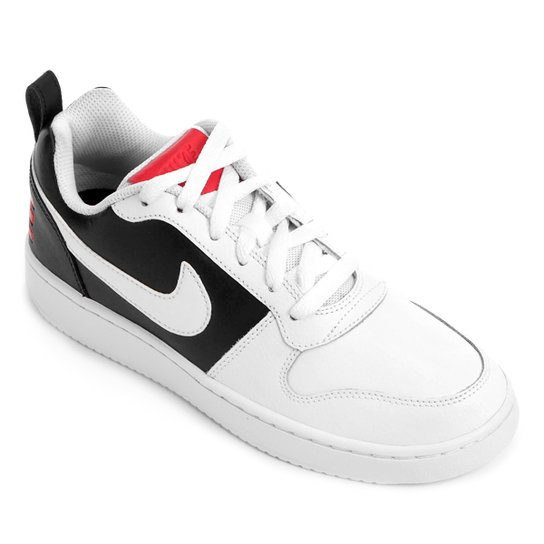 Tênis Couro Nike Recreation Low Feminino - Branco+Preto