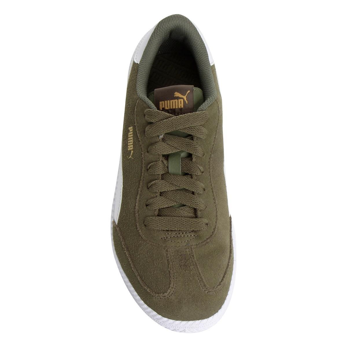 144599488e Tênis Couro Puma Astro Cup - Verde e Branco - Compre Agora