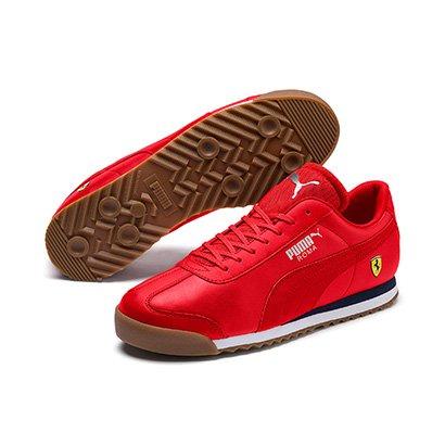 1e215328e9e Tênis Couro Puma Ferrari Roma Masculino - Vermelho - Compre Agora ...