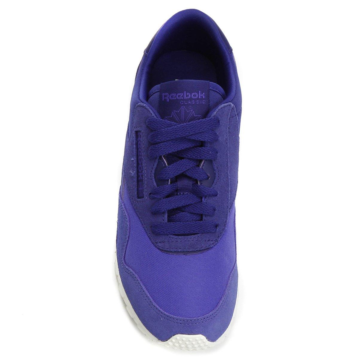 Tênis Couro Reebok Classic Nylon Slim Candy Feminina - Roxo e Azul ... b621d1057c563