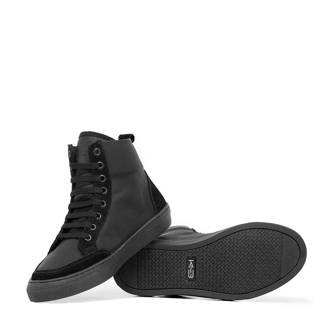 Couro Crazzy Tênis Couro Tênis Sneaker Preto FEPqwq0
