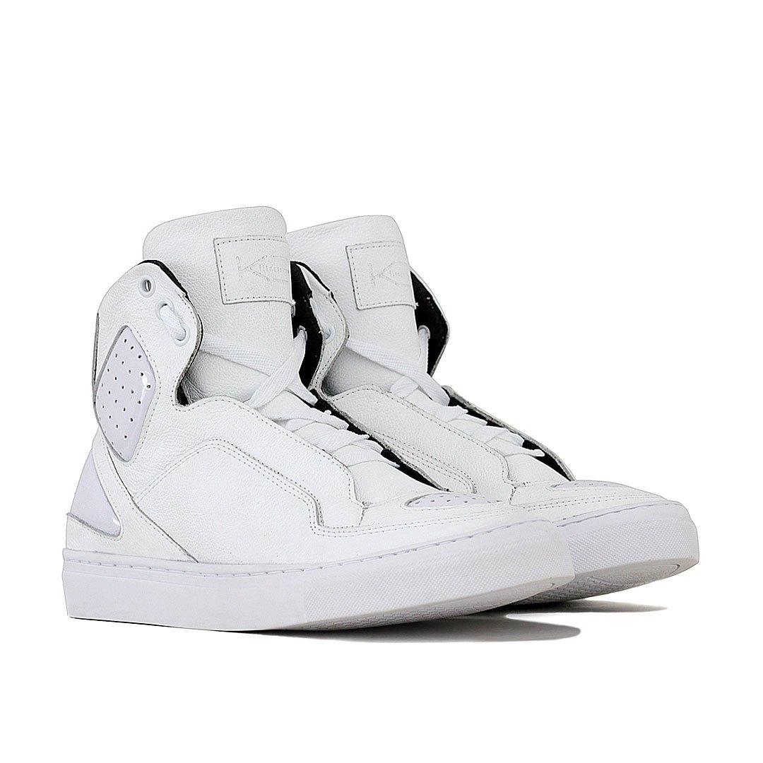 Branco K3 Fitness Sneaker Tênis Space Tênis Couro Couro wqIzxv0