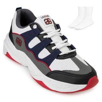 Tênis Dad Sneaker Logus e Meia LG20-20440P