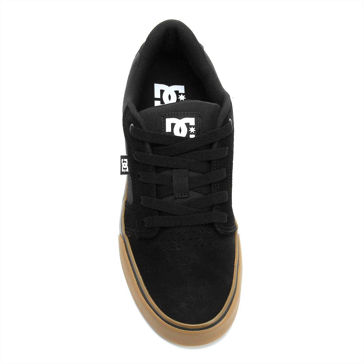 Tênis DC Shoes Anvil La Masculino - Preto e Caramelo - Compre Agora ... b1175fd5b2824