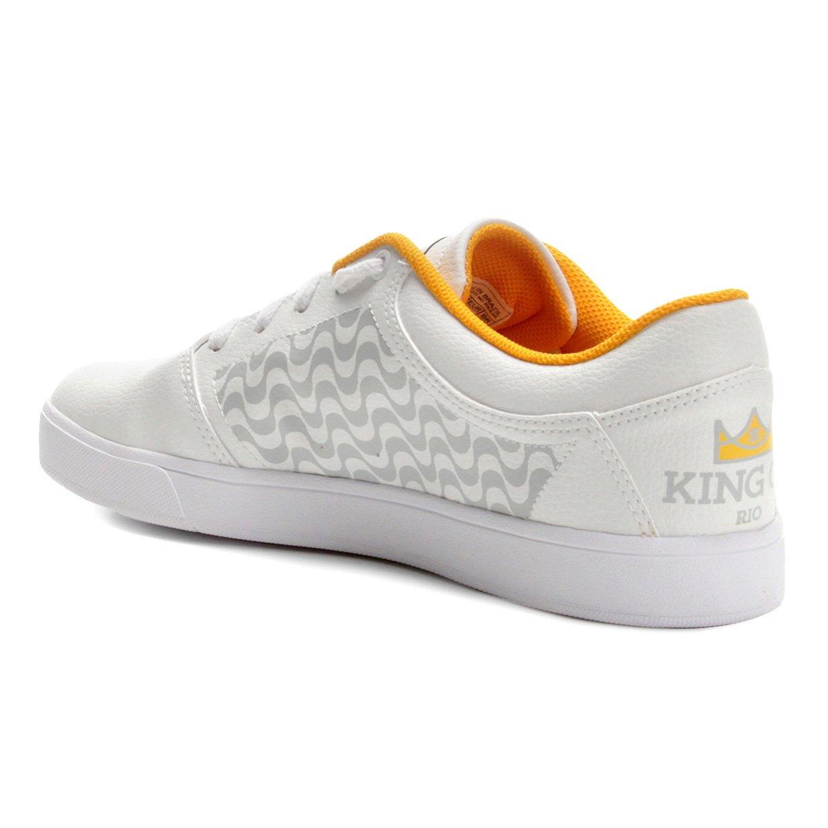 Rio Shoes Masculino DC Tênis King Of Crisis e dourado Branco Bq15S5wX