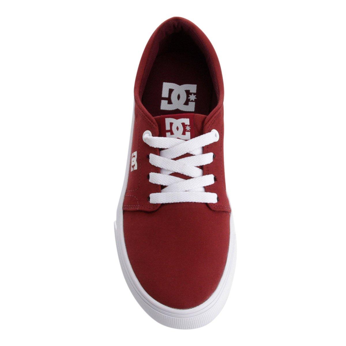 Vermelho Tx Shoes Shoes Trase Tênis Tx DC e DC Tênis Feminino Branco Vermelho Feminino Trase vAw7g