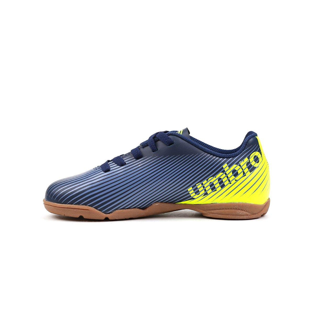5fc140b772 ... Tênis de Futsal Infantil Para Menino Umbro Speed Ii Jr Azul marinho verde  ...