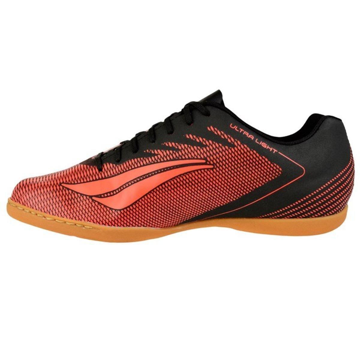95e3938dc3 Tênis de Futsal Penalty Amazonas Masculino - Preto e Laranja ...