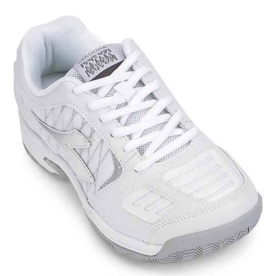 Tênis Diadora Hi Supreme 3 Feminino - Branco+prata