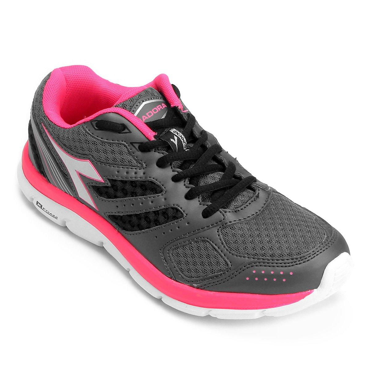 f85c308afc979 Tênis Diadora Legacy Feminino - Chumbo e Pink - Compre Agora